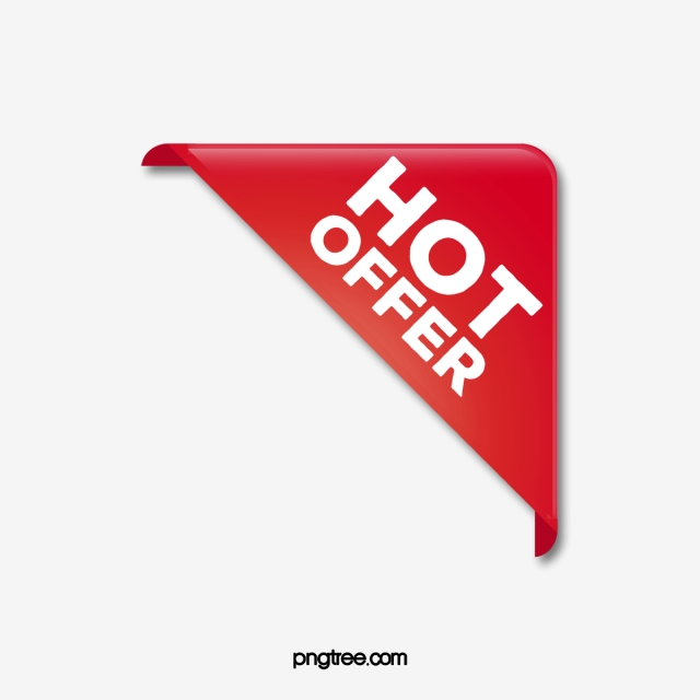 Red Triangle Hot Sale Promotion Label, Discounted Label.