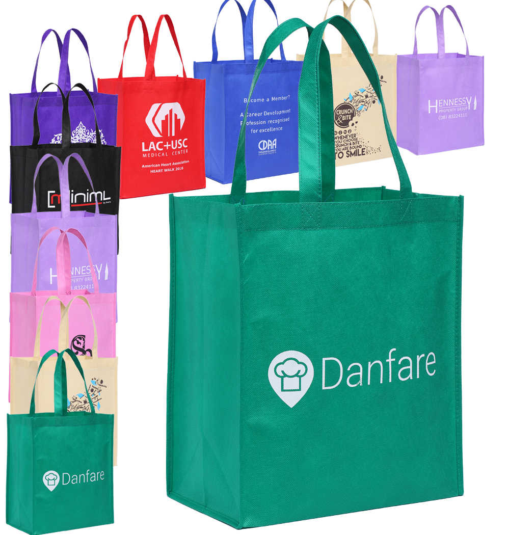 Wholesale Custom Personalized Promotional Reusable Cloth Shopping Tote Bags  with Logo.
