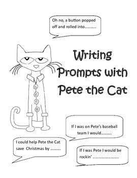 Writing Prompts: This Pete the Cat writing prompt set contains 6.