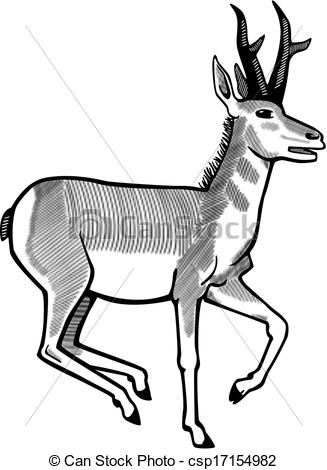 Pronghorn antelope clipart.