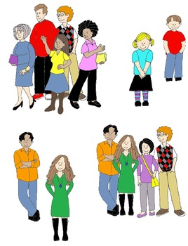 Collection of Pronouns clipart.