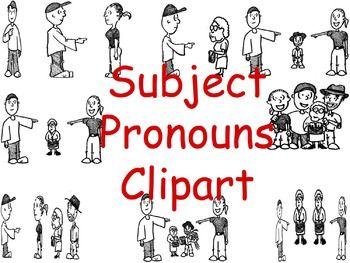 SPANISH SUBJECT PRONOUNS CLIPART.