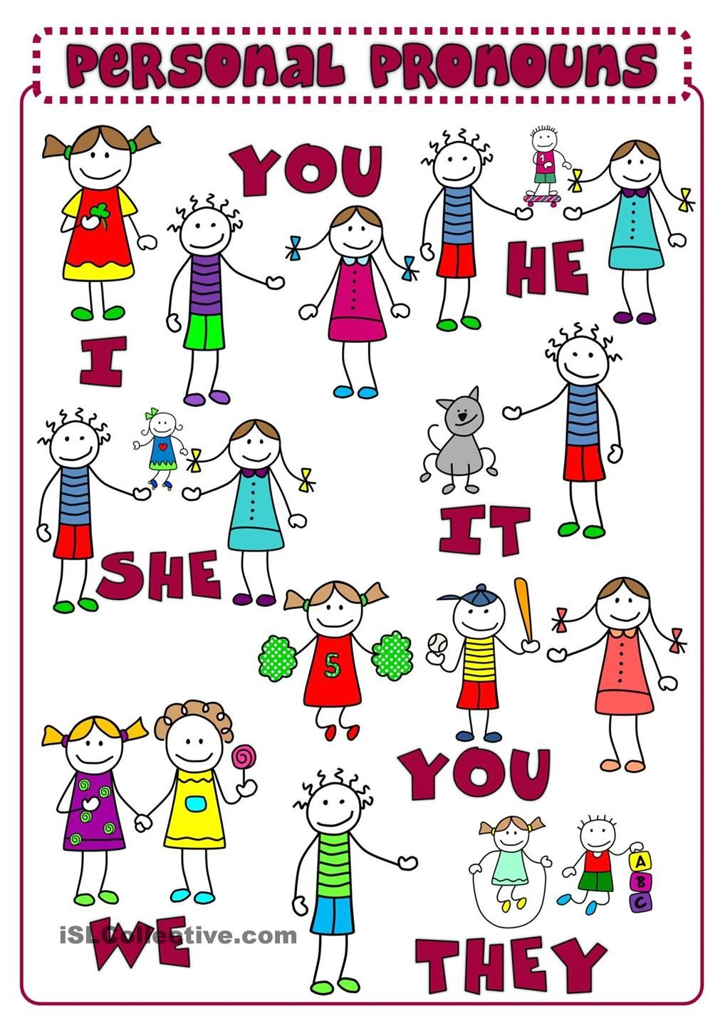 Personal pronouns clipart 2 » Clipart Station.