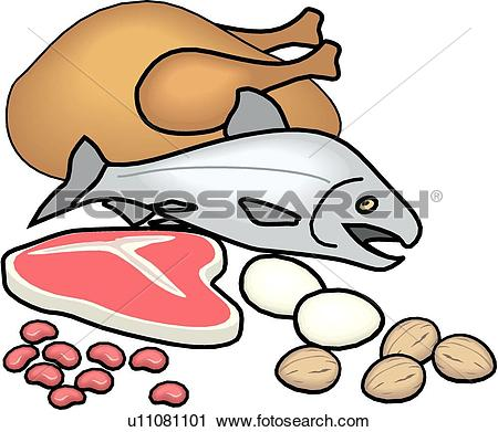 Clipart of Protein Food Group u11081101.