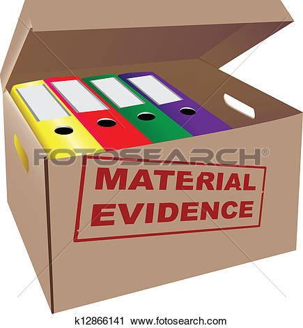 Clip Art of Evidence stamp k15793697.