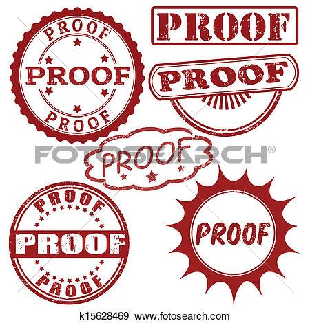 Clip Art of Set of proof stamps k15628469.