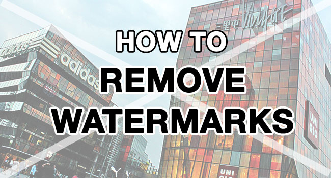 How to remove a watermark from a photo (without Photoshop.