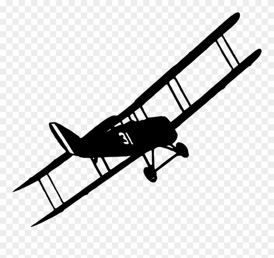 Graphic Transparent Stock Airplane Fixed Wing Aircraft.