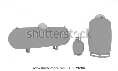 Large House Propane Gas Tank Clipart.