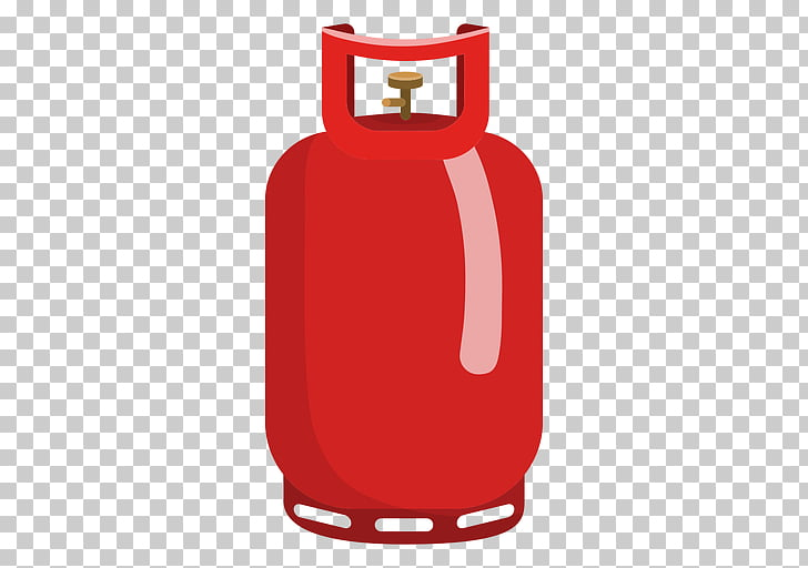 Gas cylinder Propane Liquefied petroleum gas, Silhouette PNG.