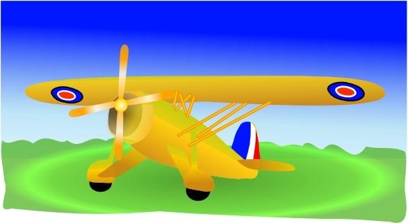 Propeller Plane clip art Free vector in Open office drawing svg.