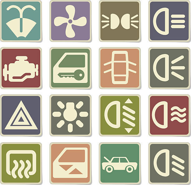 Propeller Car Connection Sign Clip Art, Vector Images.