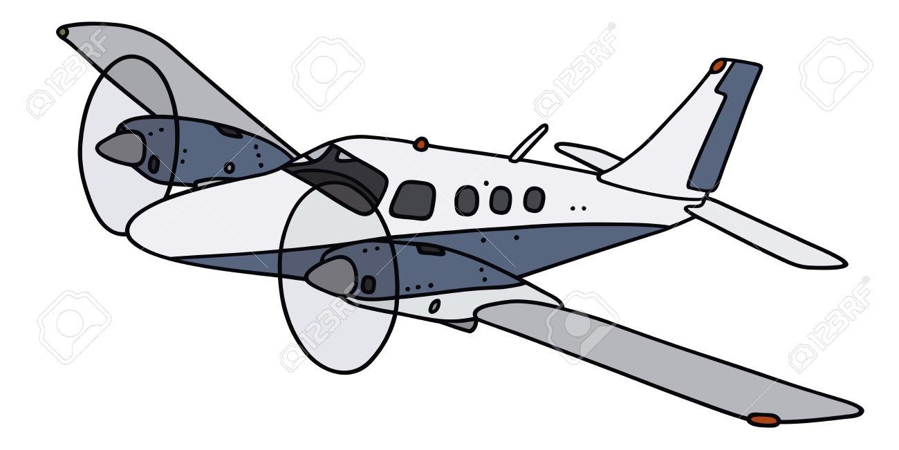 Prop plane vector clipart.