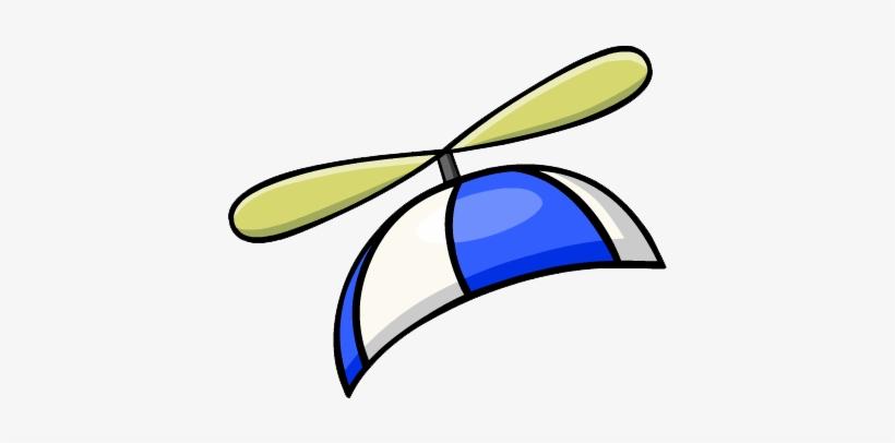 Blue Propeller Cap.