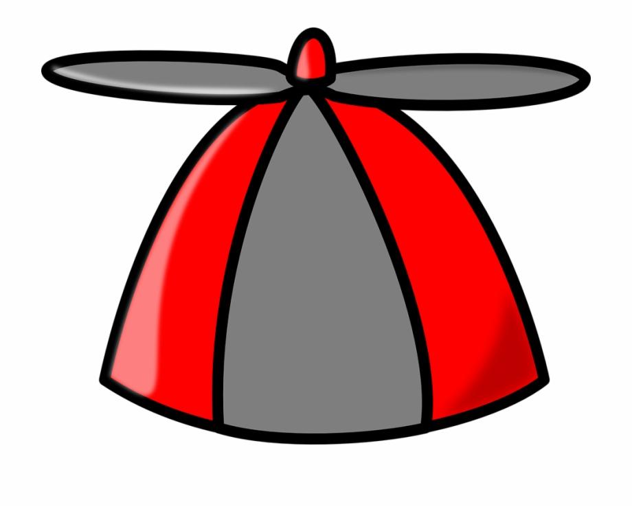 Hat Propeller Cap Red Grey Fun.