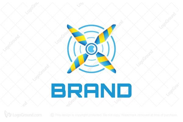 Exclusive Logo 82677, Drone Propeller Logo.