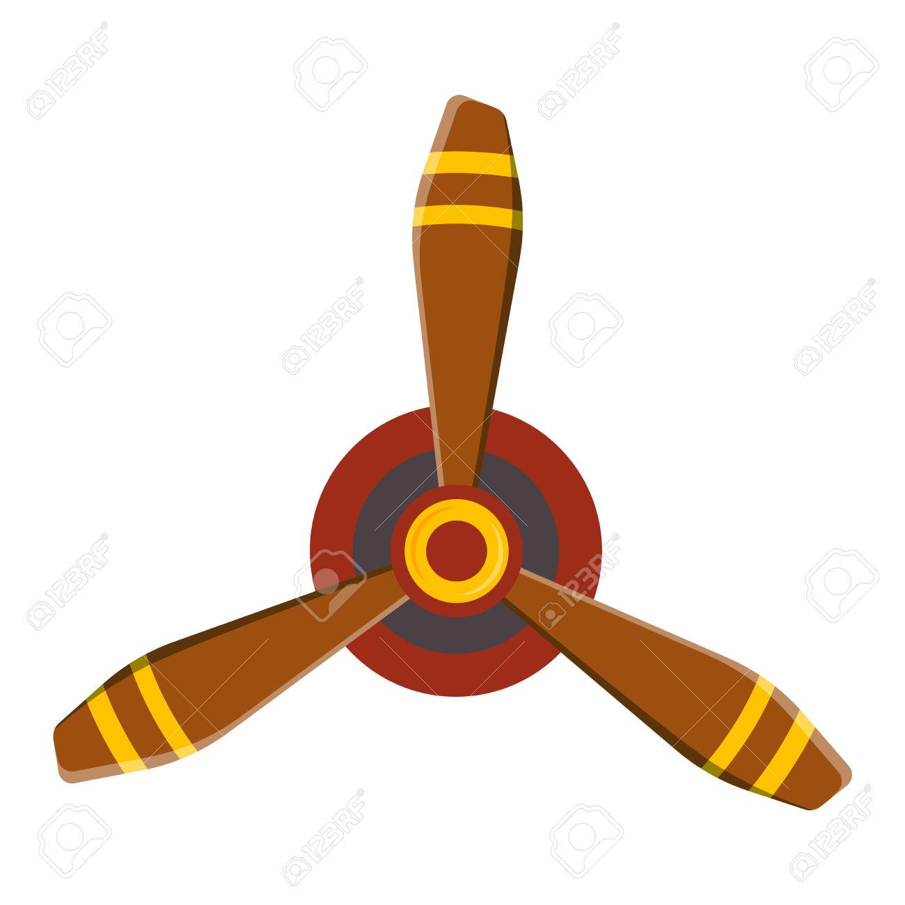 Turbine Plane Icon Propeller Fan Rotation Technology Equipment.