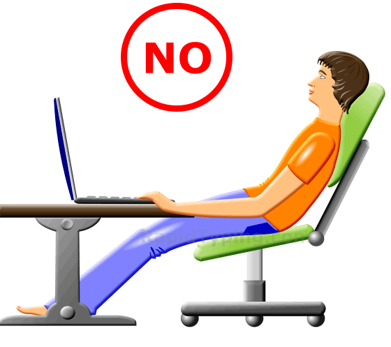 Sit properly clipart.