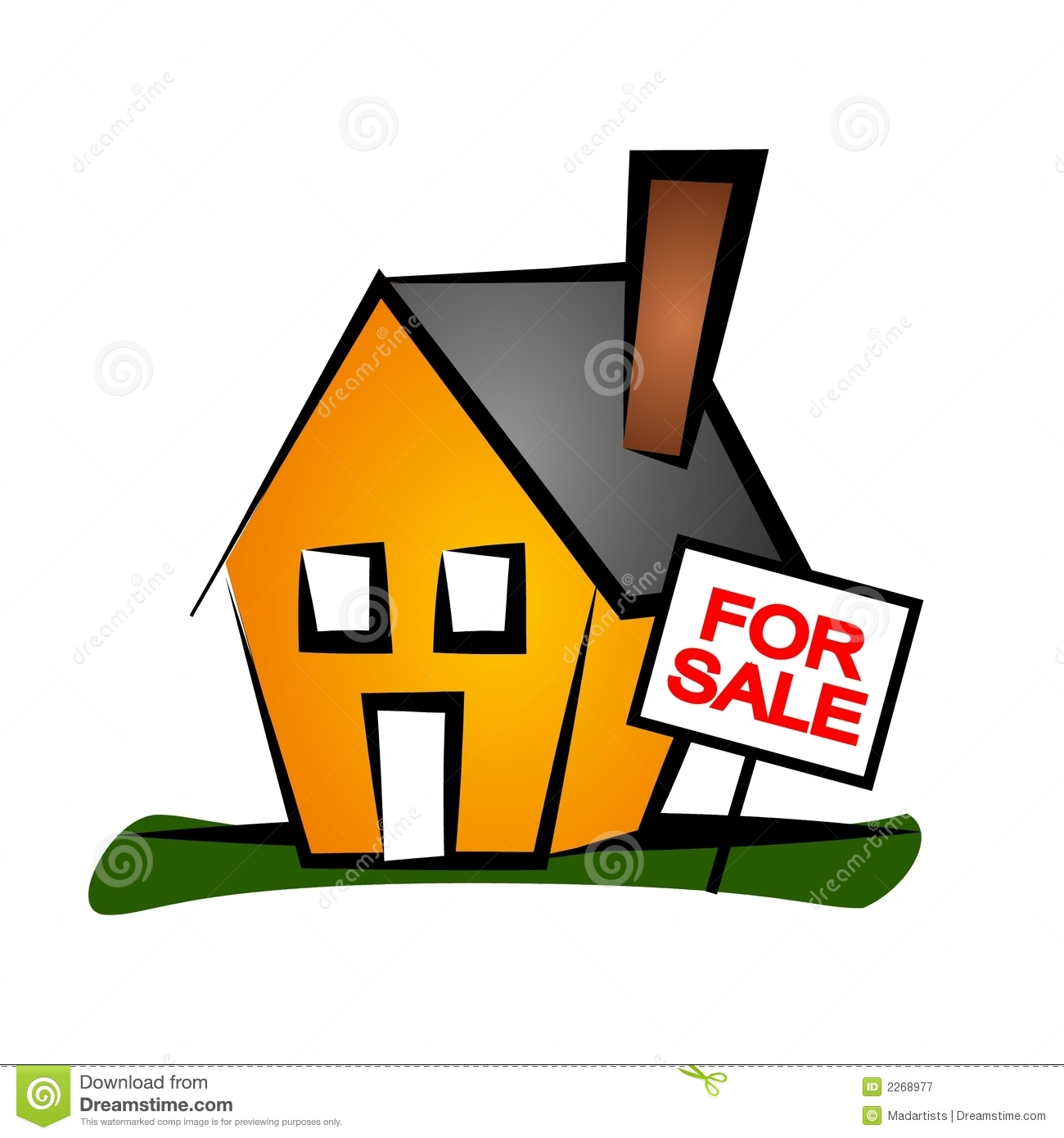Real Estate Clip Art House 1 Royalty Free Stock Photography.