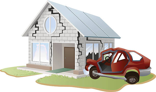 Car Accidents And Property Damage Or Failure. Trouble Clip Art.