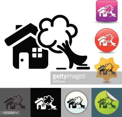 Property Damage Insurance Icon Solicosi Series Vector Art.