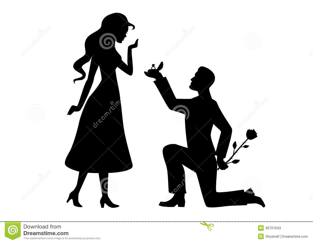 Marriage proposal clipart.