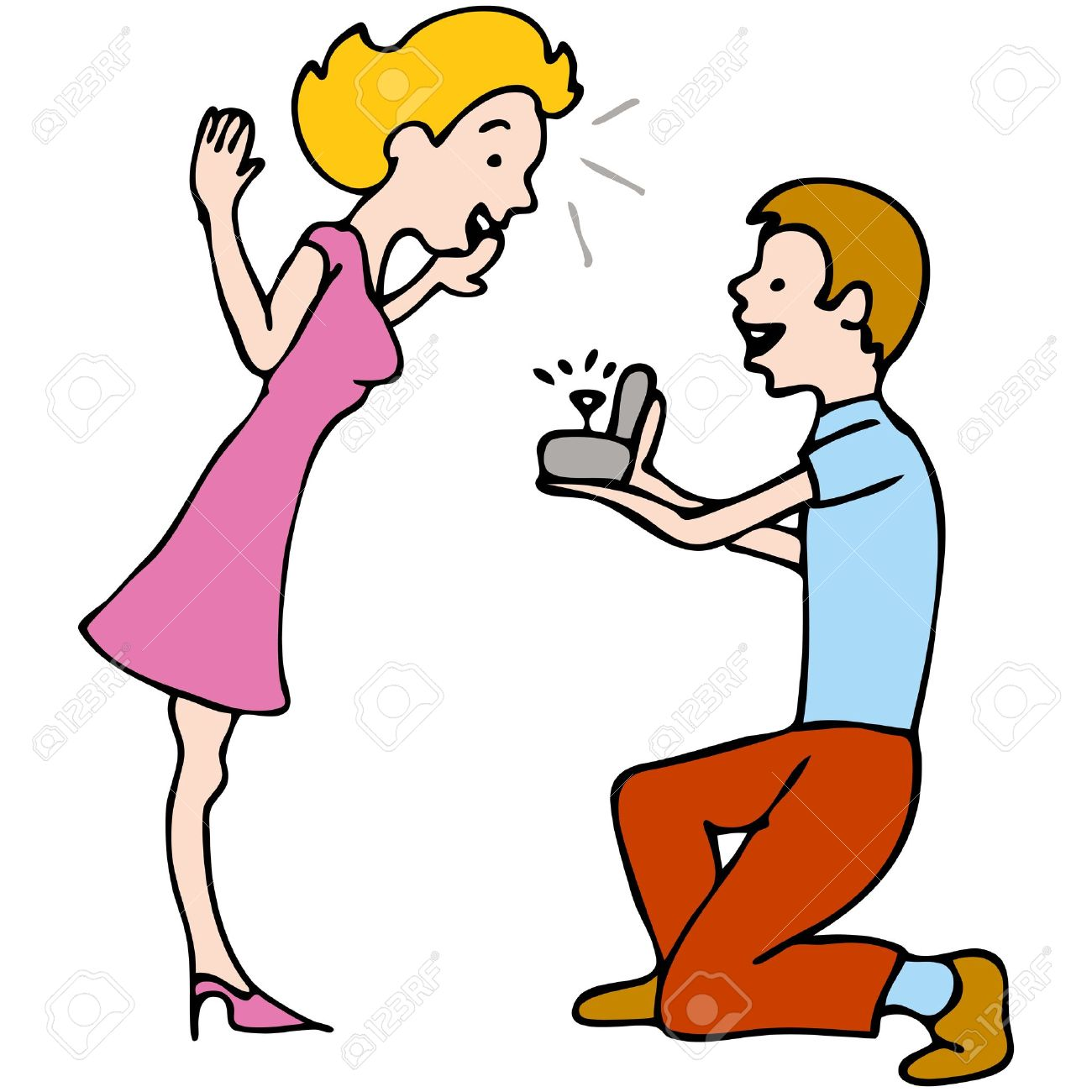 Will you marry me clipart.