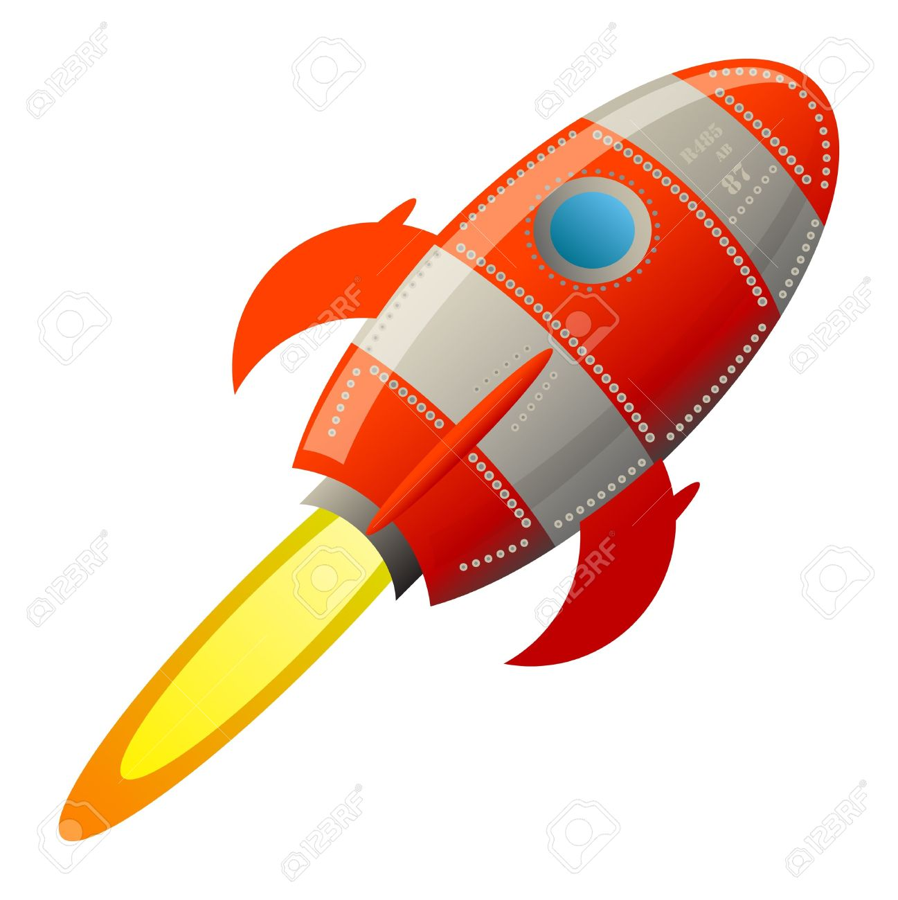 Retro Rocket Royalty Free Cliparts, Vectors, And Stock.