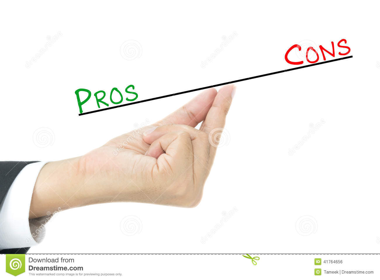 Pros and cons comparison.
