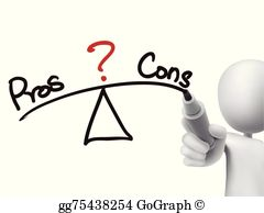 Pros And Cons Clip Art.