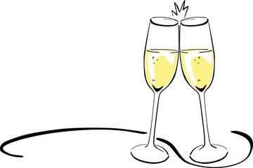 Anstoßen Cocktail Clipart.