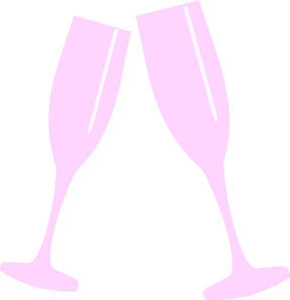 Champagne Glass Pink Clip Art at Clker.com.