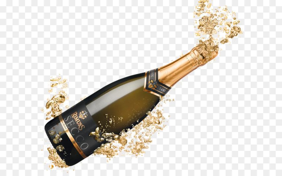Prosecco Champagne Brandy Wine Cocktail.