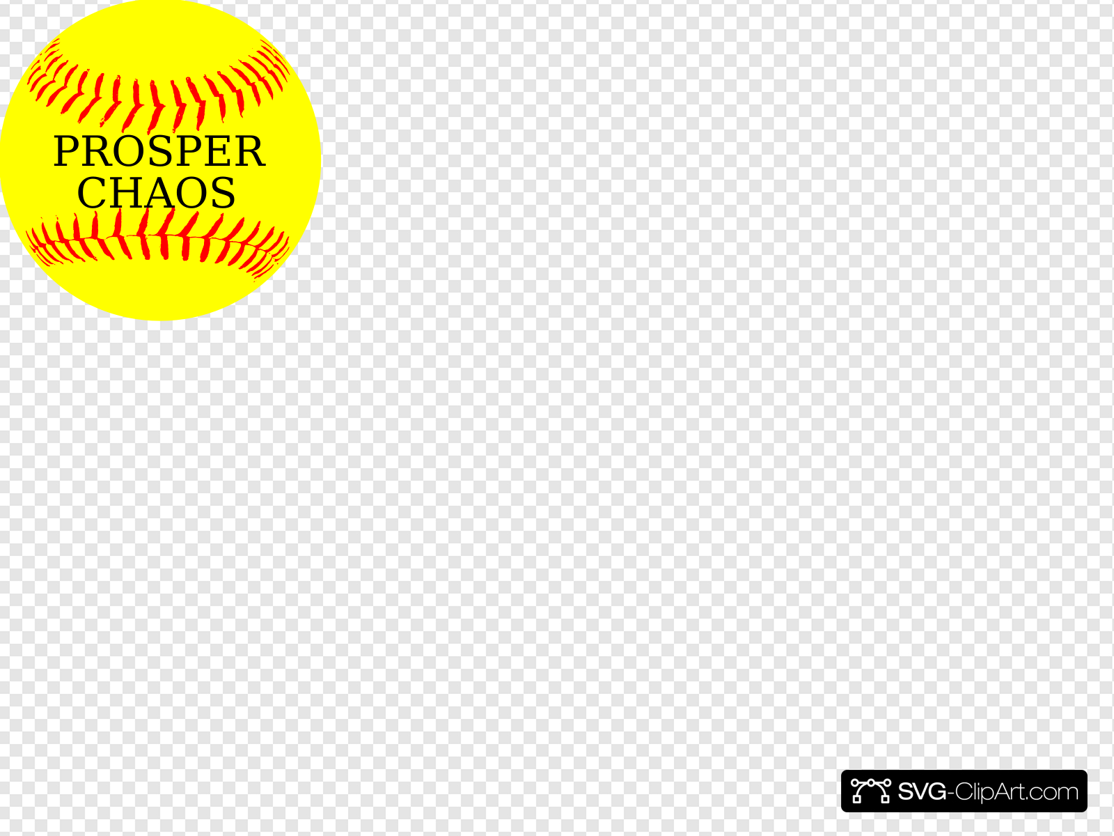 Softball Yellow Prosper Clip art, Icon and SVG.
