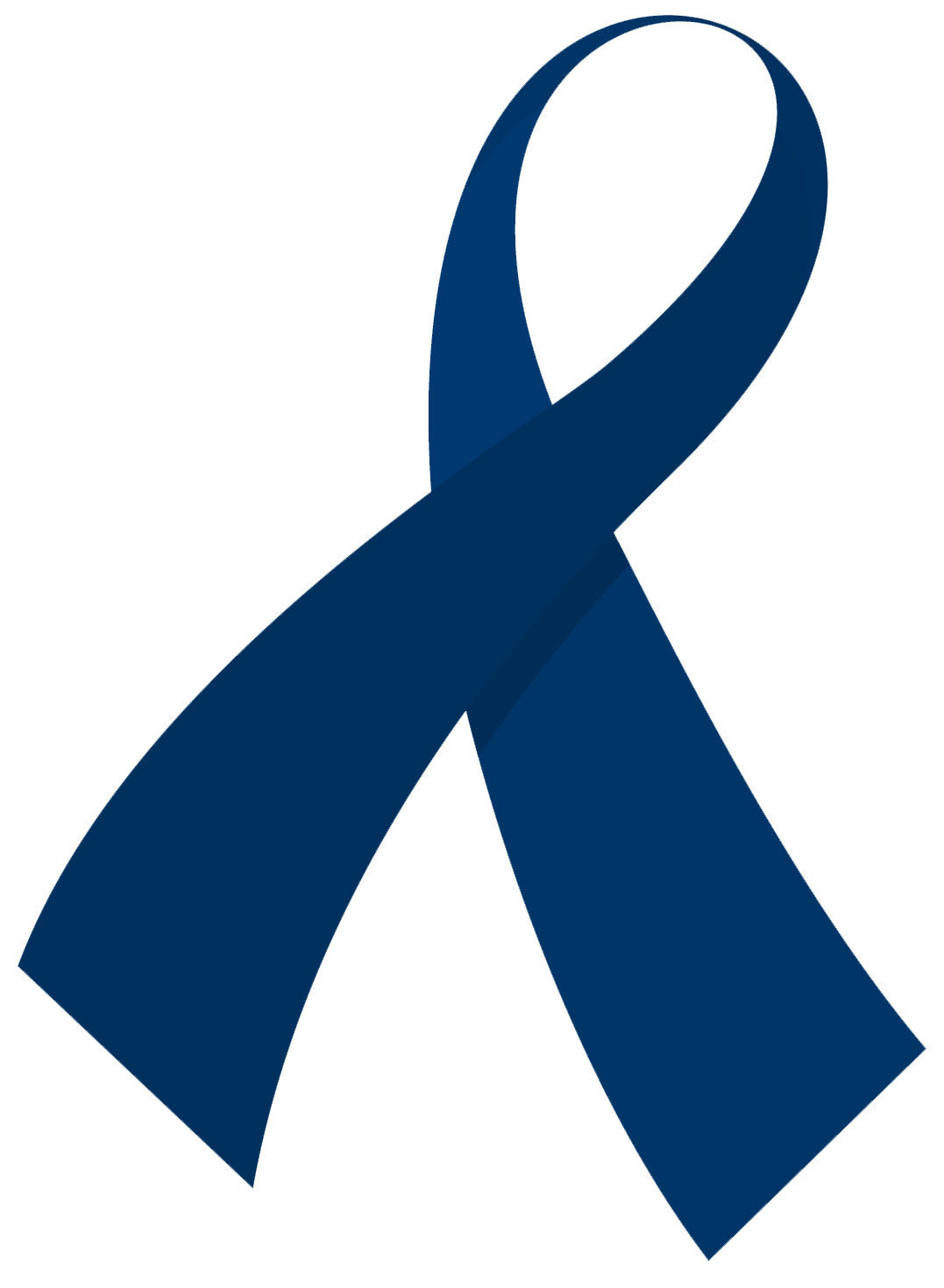 Blue Prostrate Cancer Ribbon Clip Art.