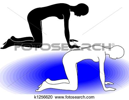 Stock Illustrations of Gym Correct Position to exercise k1256620.