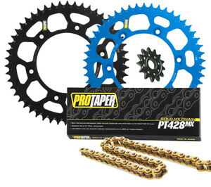 Details about Pro Taper front & rear sprocket & PT428MX chain kit.