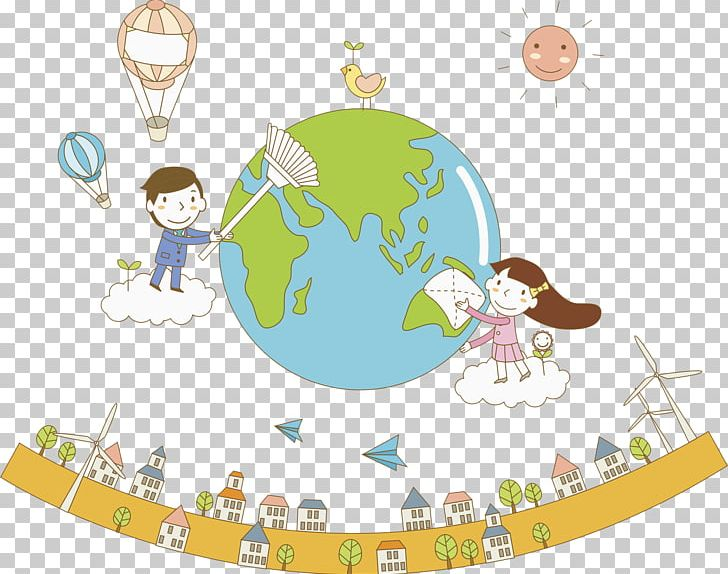 Protect The Earth PNG, Clipart, Area, Atmosphere, Cartoon.
