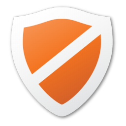 Protect, red, shield icon.