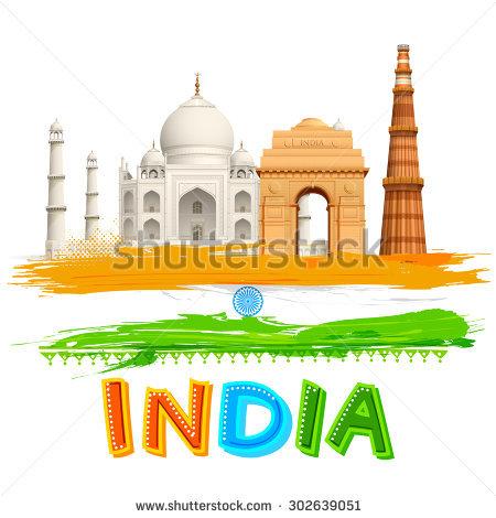 India Monuments Stock Photos, Royalty.