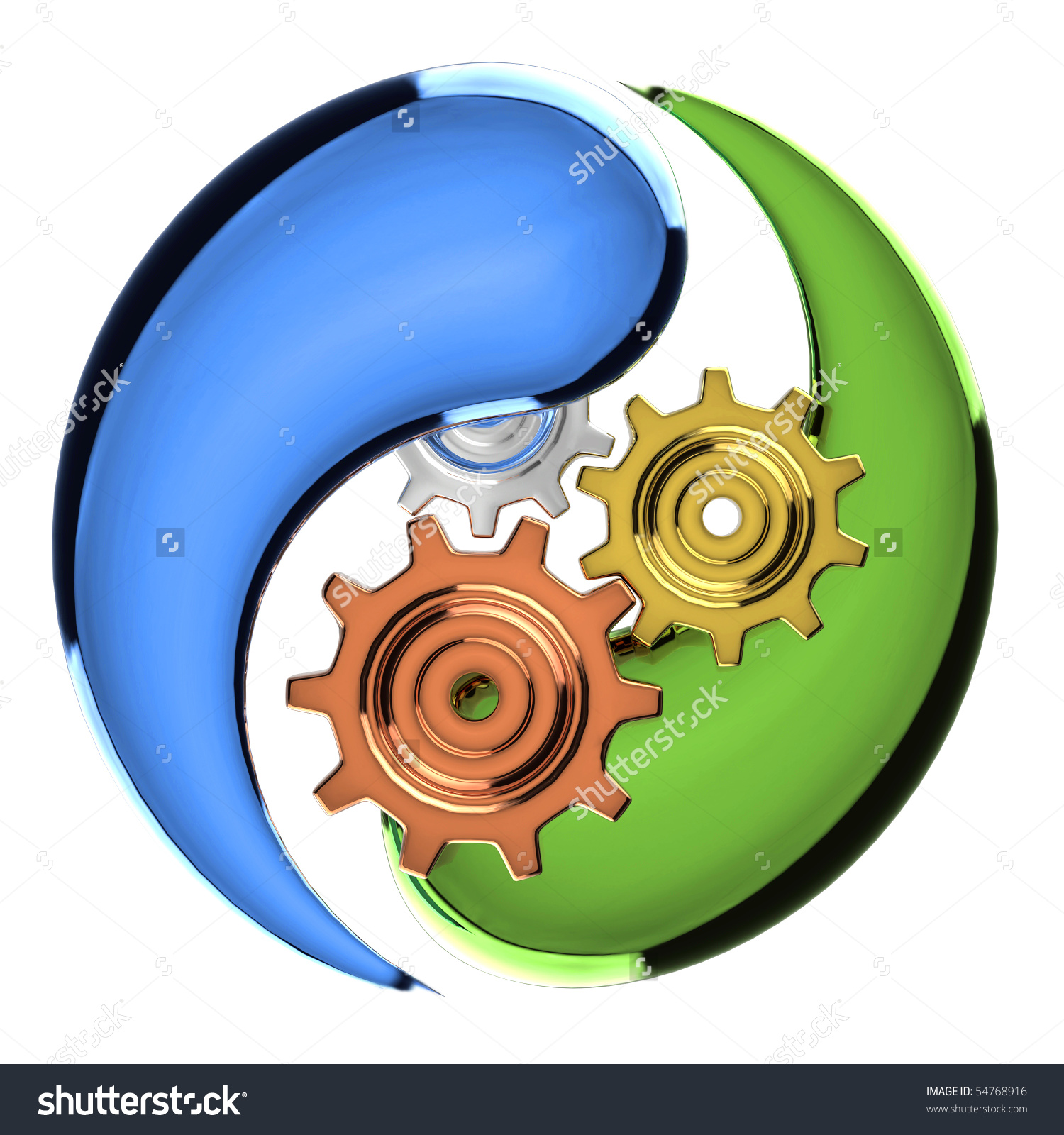 Isolated Ecology Protection Mechanism Symbol Stock Photo 54768916.