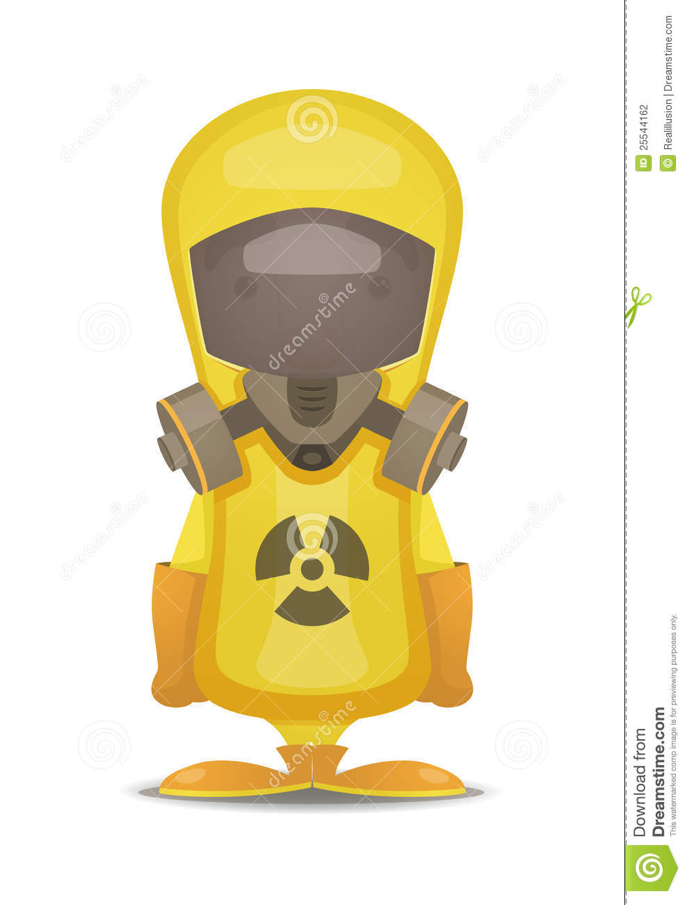 Radiation Protection Suit Stock Photography.