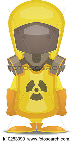 Clipart of Radiation Protection Suit k10283093.