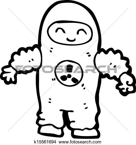 Clipart of cartoon man in protective clothing k15561694.