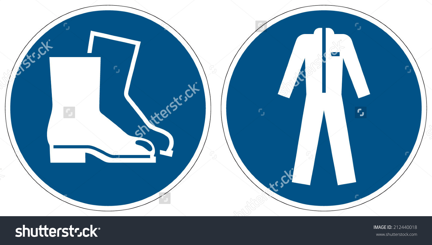 Wear Safety Footwear Wear Protective Clothing Stock Vector.