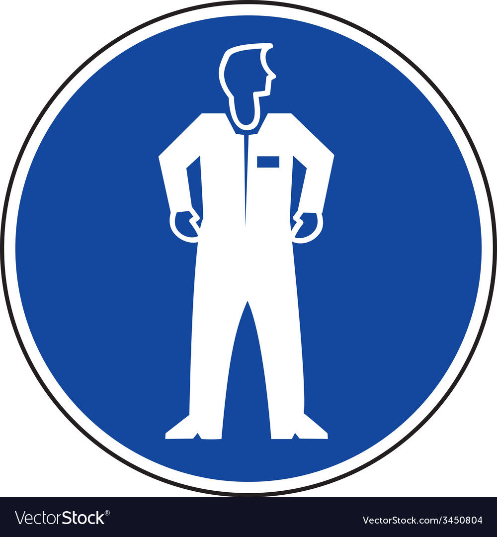 Protective Clothing Must Be Worn Safety Sign.