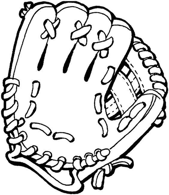 baseball mitt coloring page.