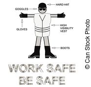 Vector of Personal protective equipment PPE.