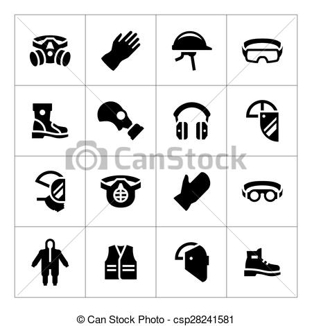 Personal protective equipment Illustrations and Clip Art. 827.