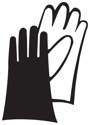 Safety gloves clipart.